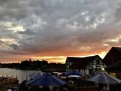 Fiery sky over Oulton Broad