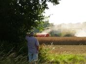 Oilseed rape harvesting begins.