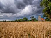 St Martin's Church Thompson Stormy Sky