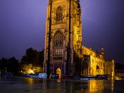 Lightning strike over St Peter Mancroft