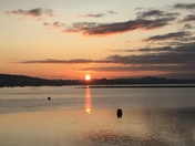 Sun setting across the Exe Estuary