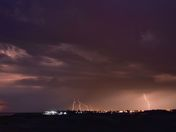 lightning over caister