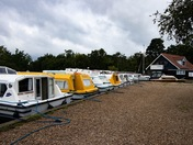 Moored boats at Ludham Staithe