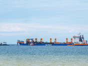 Bacton Gas Terminal Sand supply vessel