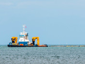 Bacton Gas Terminal Sand supply vessel support unit