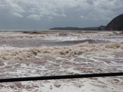 Wild August weather in Sidmouth