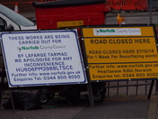 SIGNS OF ROAD WORKS
