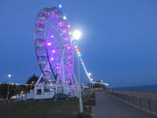 Exmouth Observation Wheel lights up!