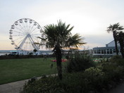 Exmouth Observation Wheel still lights up before the sun goes down