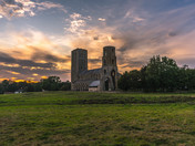 Sunset at Wymondham Abbey.