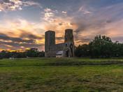 Sunset over Wymondham Abbey