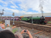 Loco 61306 Mayflower arriving at Lowestoft