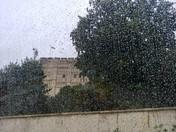 Norwich Castle On A Rainy Day
