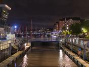 Portishead marina at night