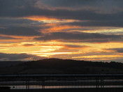 Sunset skies over Exmouth Estuary