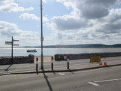 The afternoon sunshine on Exmouth sea-front