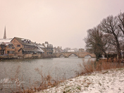 St Ives in snow.