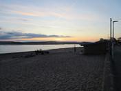 Exmouth beach at dusk