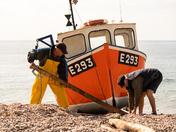 Men at Work Branscombe Beach