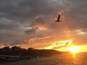 Sunset over cromer