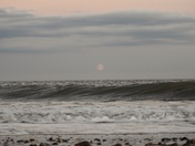 Moonrise Lowestoft Beach
