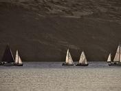 Yachts catch morning Sun…