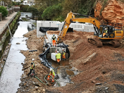 New Alma Bridge under construction in Sidmouth