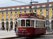 Colouful Lisbon tram