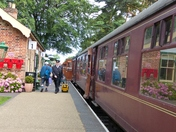 TRAIN ARRIVING FROM AT HOLT FROM SHERINGHAM