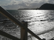 Sunny Sunday afternoon in Sidmouth at Jacob's Ladder