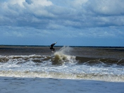 Kite surfing at Eccles beach.