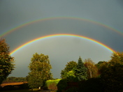 Double rainbow after a storm