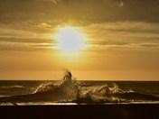 rough sea, lovely dawn