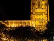St Peter Mancroft Church at night.