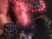 Stowmarket fireworks.