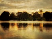Sun setting over Diss mere
