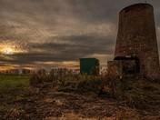Buckenham Ferry Drainage Mill at dusk.