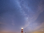 Project 52 After dark - Happisburgh and the Milky Way