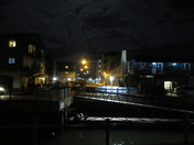 Exmouth Harbour in the moonlight