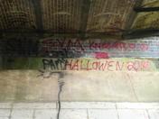 Very Bad Graffiti on the Victorian Railway Bridge in Honing