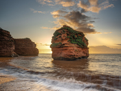 Sunrise and Sea Stack at Ladram