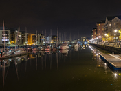Portishead Marina by night
