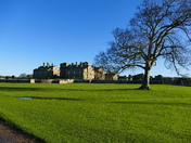 HOLKHAM HALL IN THE WINTER SUNSHINE
