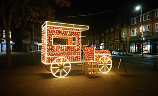 St Albans Christmas Lights Vintage Car
