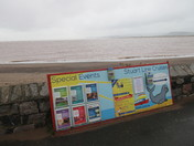 Exmouth sea-front in the wet & windy weather.