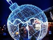 Big Christmas Buble outside chapelfield