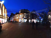 Sidmouth Market festive lights