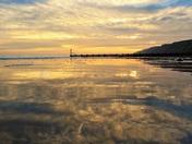 A reflective sunrise