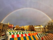 Beautiful double rainbow over Norwich tiday