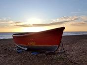 Sunrise on Sunday morning at Dunwich
